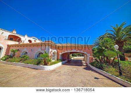 beautiful building in Costa Smeralda in Sardinia