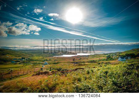 Sea Loch Pooltiel taken from Glendale on the Isle of Skye