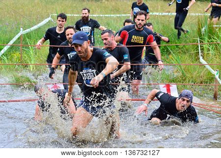Gladiator Race - Extreme Obstacle Race In La Fresneda, Spain.