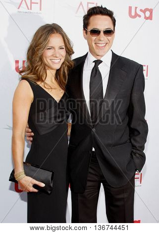 Robert Downey Jr. and Susan Downey at the 36th AFI Life Achievement Award held at the Kodak Theater in Hollywood, USA on June 12, 2008.