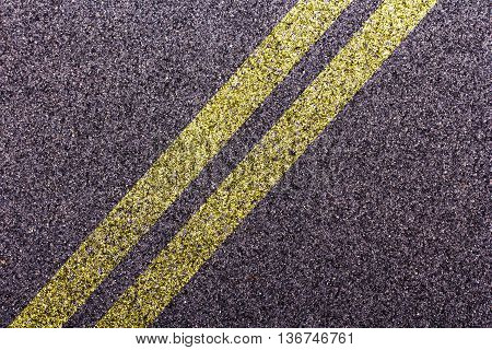 Tarmac Design With Diagonal Double Yellow Lines