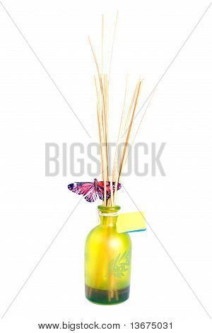 Scented spa bottle with butterfly