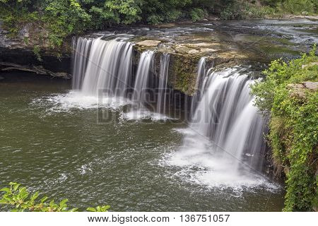 Ludlow Falls is wide waterfall found in Miami County Oho.