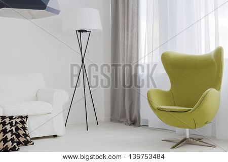 Peaceful Atmosphere Of A Modern Lounge Room
