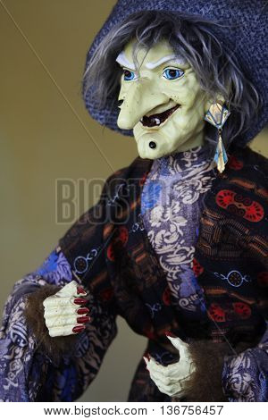 Witch in a variety of costumes - one of the most popular souveni