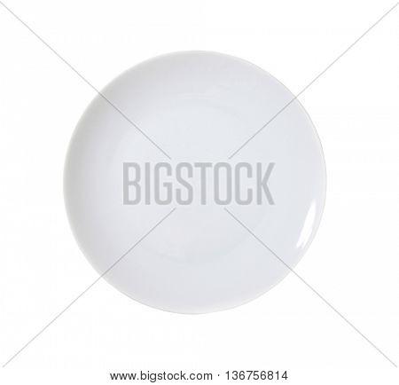 empty rimless white isolated on white background