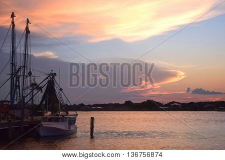 Shrimp Boat on the Intracoastal waterway river