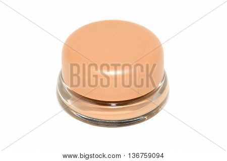 Tonal cream in glass jar isolated on white