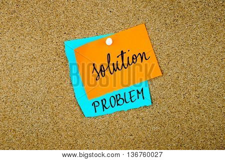Solution Problem Written On Paper Notes