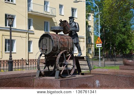 SAINT PETERSBURG, RUSSIA - MAY 30, 2015: The sculpture-fountain