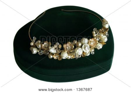 Wedding Crystal And Pearl Diadem Of The Bride