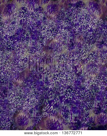 abstract background with flower elemental structure in violett tones.