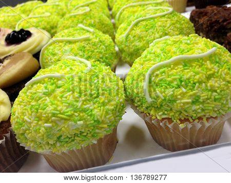 Abstract Creative Tennis Cupcakes Scene London England