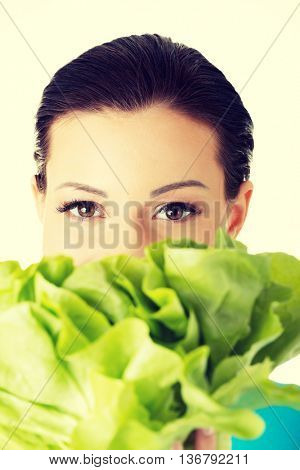 Attractive woman with salat
