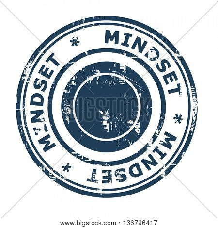 Mindset business concept rubber stamp isolated on a white background.