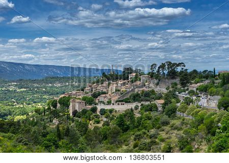 The long pond in the hill top village of Bonnieux in the Luberon Provence