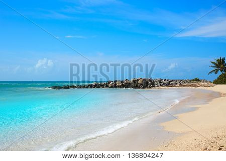 Key West beach Fort Zachary Taylor Park in Florida USA