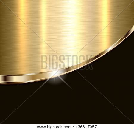Background elegant gold metal texture, vector illustration.