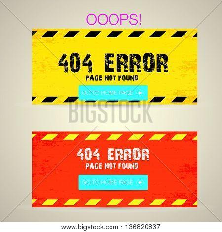 Creative page not found, 404 error design.