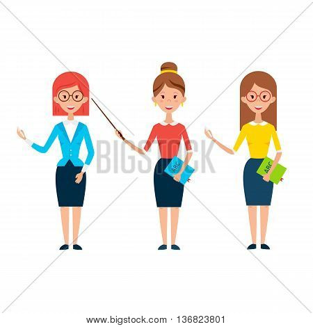 Three Women Teacher Characters