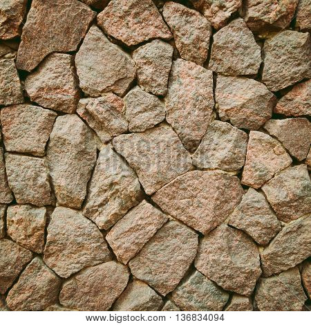 Wall from stones textured. Monotone colours image.