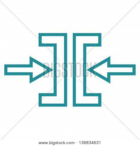 Pressure Horizontal vector icon. Style is stroke icon symbol, soft blue color, white background.