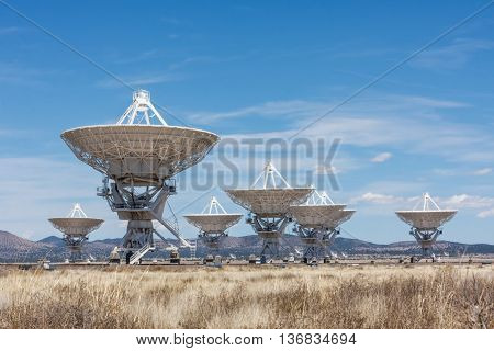 The Very Large Array of radio telescopes, New Mexico