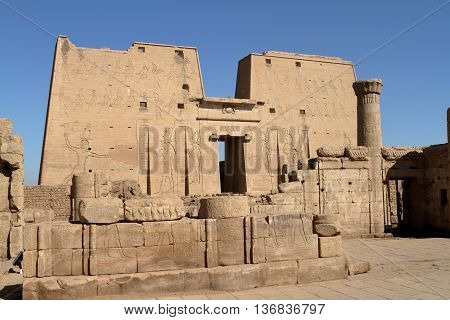 The Temple of Horus at Edfu in Egypt