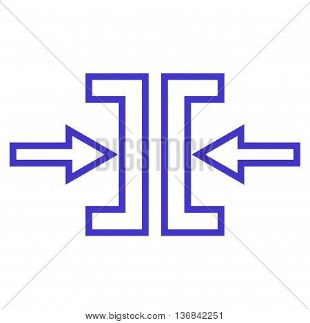Pressure Horizontal vector icon. Style is outline icon symbol, violet color, white background.