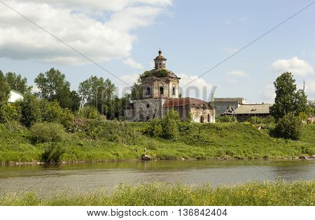 Church of the Intercession of the Virgin, (Old-Pokrovskaya). Verkhoturye. Russia.