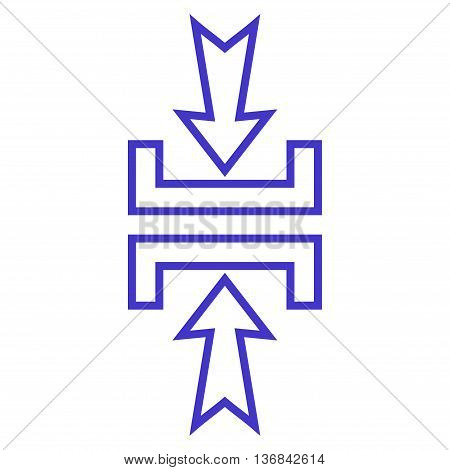 Pressure Vertical vector icon. Style is contour icon symbol, violet color, white background.