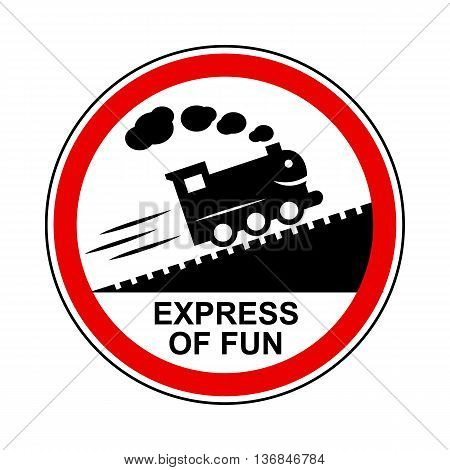 Train journey sign icon in simple style isolated on white background