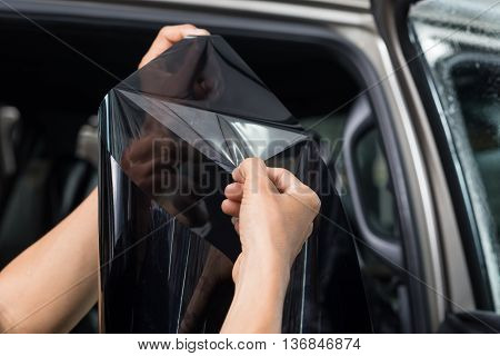 Car window tinting series : Peeling adhesive