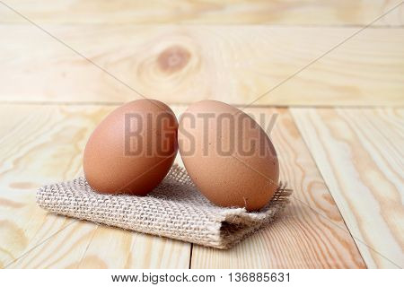 Eggs On Wood Pine Background. Eggs Are Incredibly Nutritious An Important Nutrient That Most People