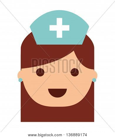 nurse  isolated icon design, vector illustration  graphic