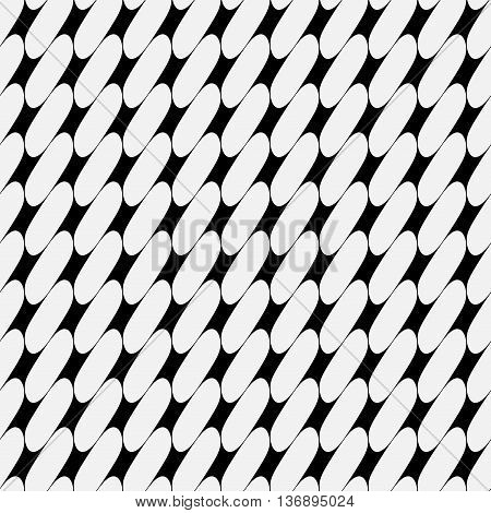 Oval geometric seamless pattern. Fashion graphic background design. Modern stylish abstract texture. Monochrome template 4 prints textiles wrapping wallpaper website etc. Stock VECTOR illustration
