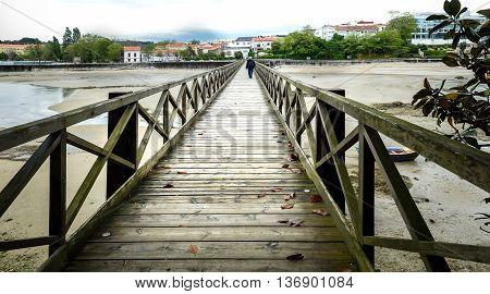 Old Bridge In Santa Cruz Island, Oleiros, Rias Altas, A Coruna, Spain