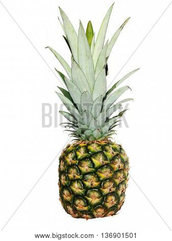 Ripe pineapple isolated on a white background.