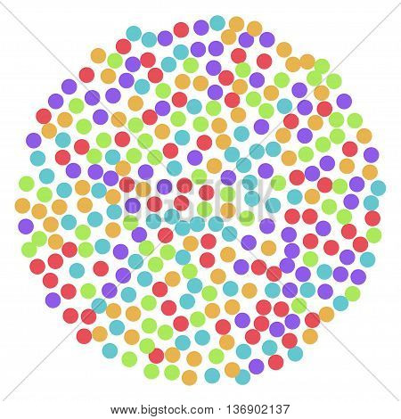 color background of many bright cirles. Stock vector illustration