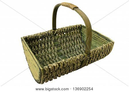 Basket woven of the twigs and bark.