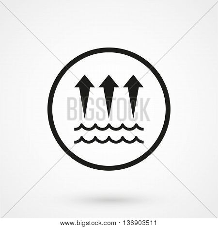 Water Evaporation Icon On White Background In Flat Style. Simple Vector Illustration