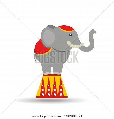 circus animal isolated icon design, vector illustration  graphic