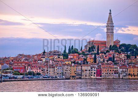 Town of Rovinj sunset view IStria Croatia