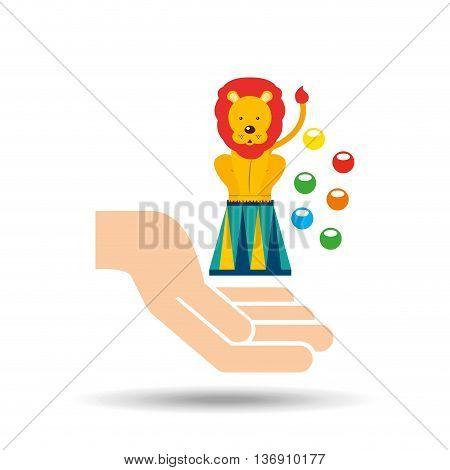 circus animal isolated icon design, vector illustration  graphic
