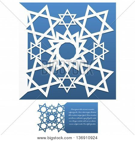 Invitation envelope vector photo free trial bigstock invitation envelope template of jewish star of david for laser cutting square format stopboris Choice Image