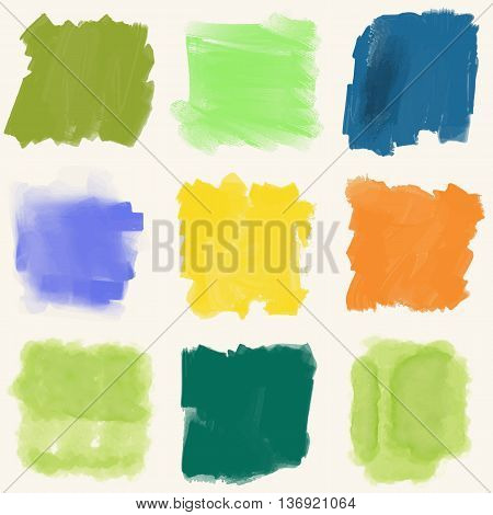 Color Paint Decoration. Splatter Color Design. Paint Splatter Decoration. Abstract Paint Element. Splatter Decoration Design. Vector Illustration.