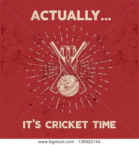 Retro cricket club emblem design. Cricket logo icon design. Cricket badge. Sports logo symbols with cricket gear, equipment