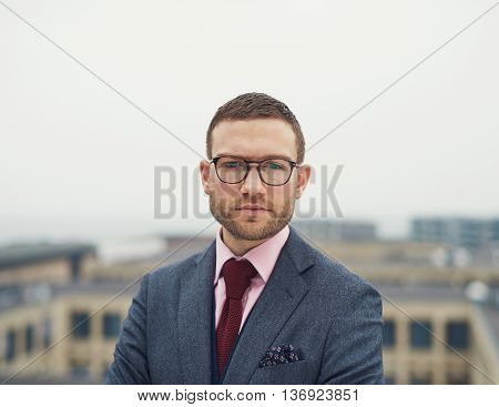 Determined Intense Young Businessman