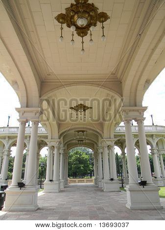 Tigre Art Museum classic architecture whith colums poster