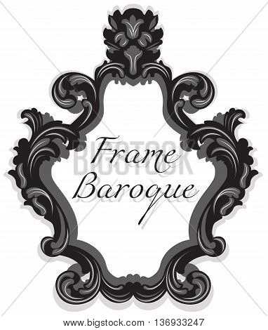 Baroque Rococo Mirror frame set. Vector French Luxury rich carved ornaments and Wall Frames. Victorian wealthy Style frame